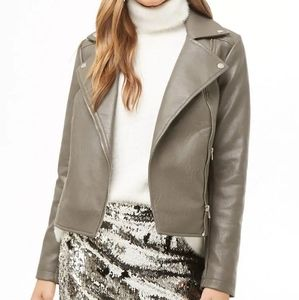 Forever 21 Faux Leather Jacket Size S